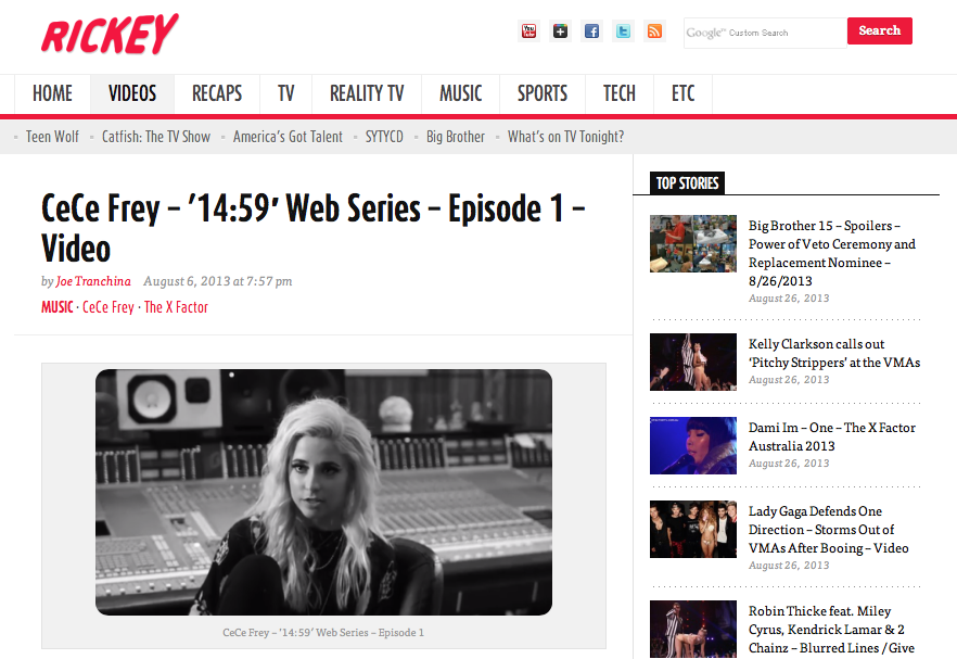 CeCe Frey – '14:59′ Web Series – Episode 1 on Rickey.org
