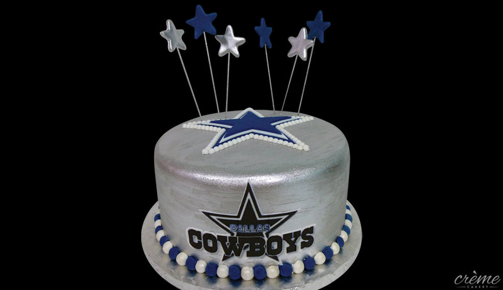 Fondant Dallas Cowboys Groom's Cake
