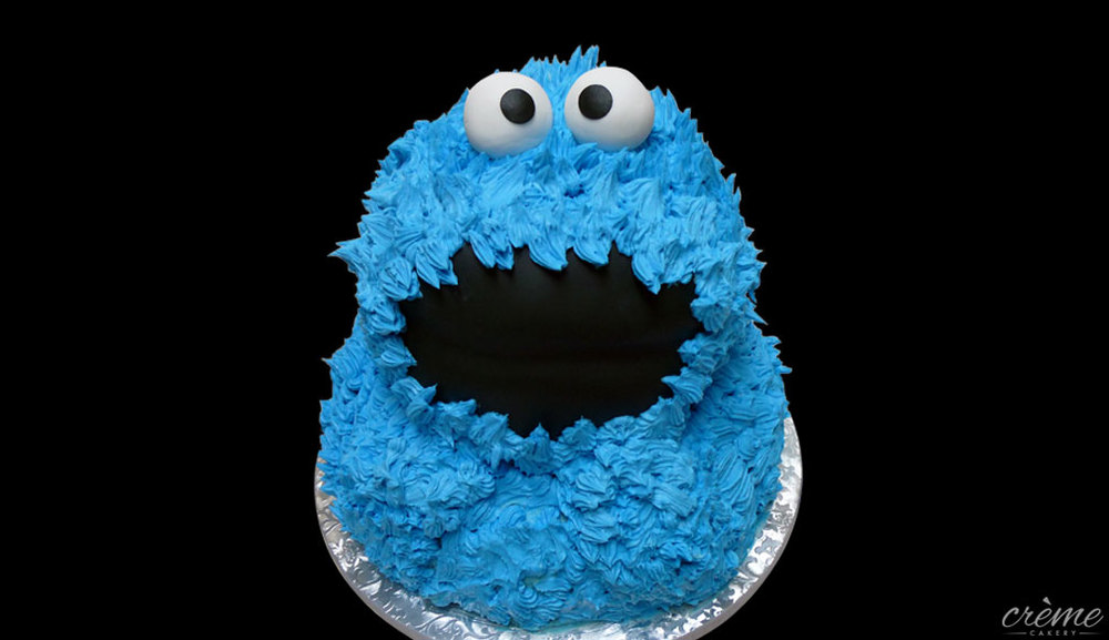 Buttercream Cookie Monster Cake