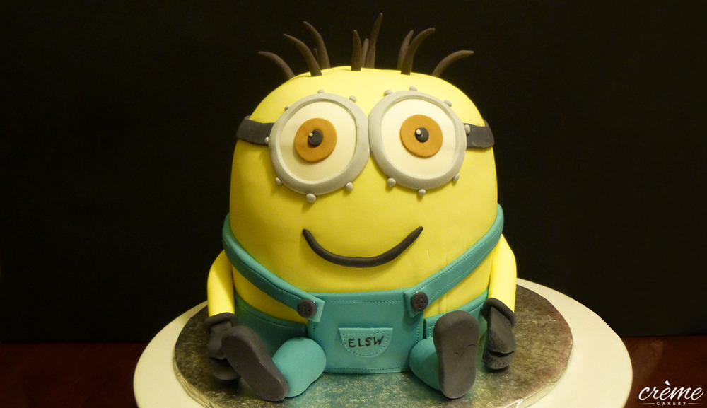 Little Minion Fondant Cake