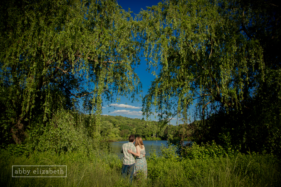 I just love the way the trees make a heart around this adorable couple! It really echoes how truly in love they are!