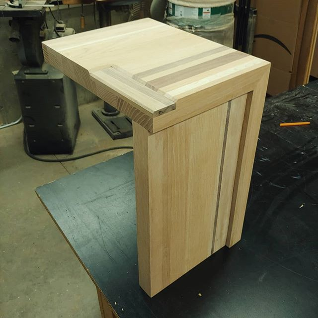 Goofing with 2x sided end table. #woodworking #furniture #create #creatures