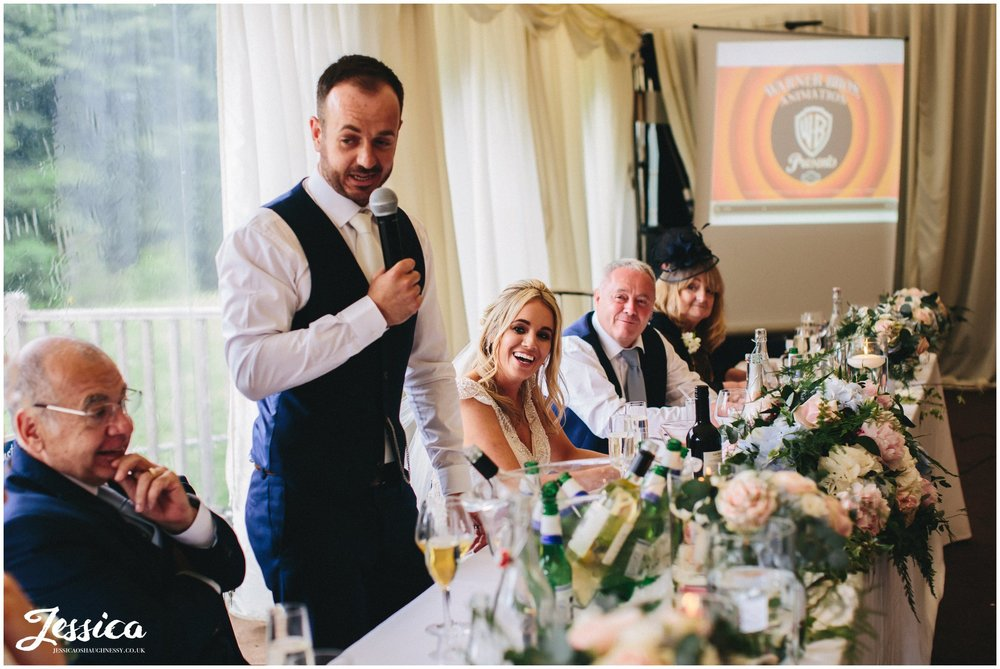 thornton manor wedding - groom's speech