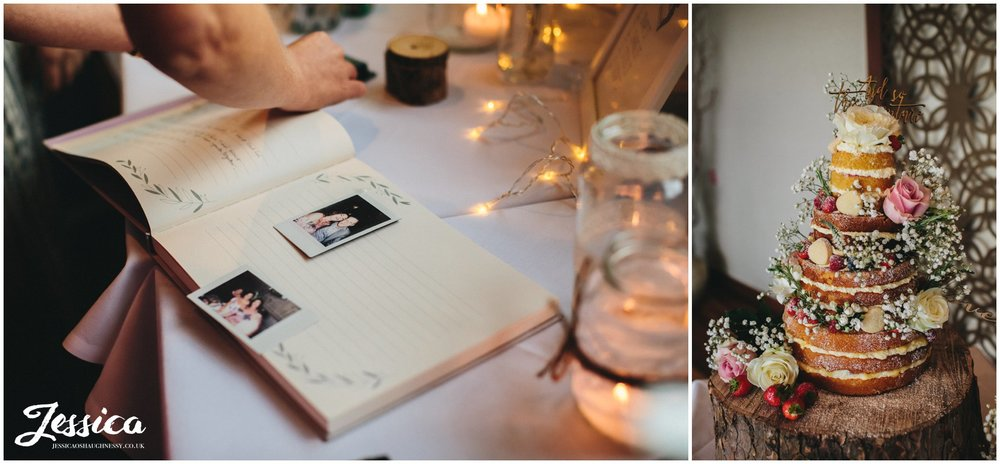 rustic wedding details at sheldrakes, on the wirral
