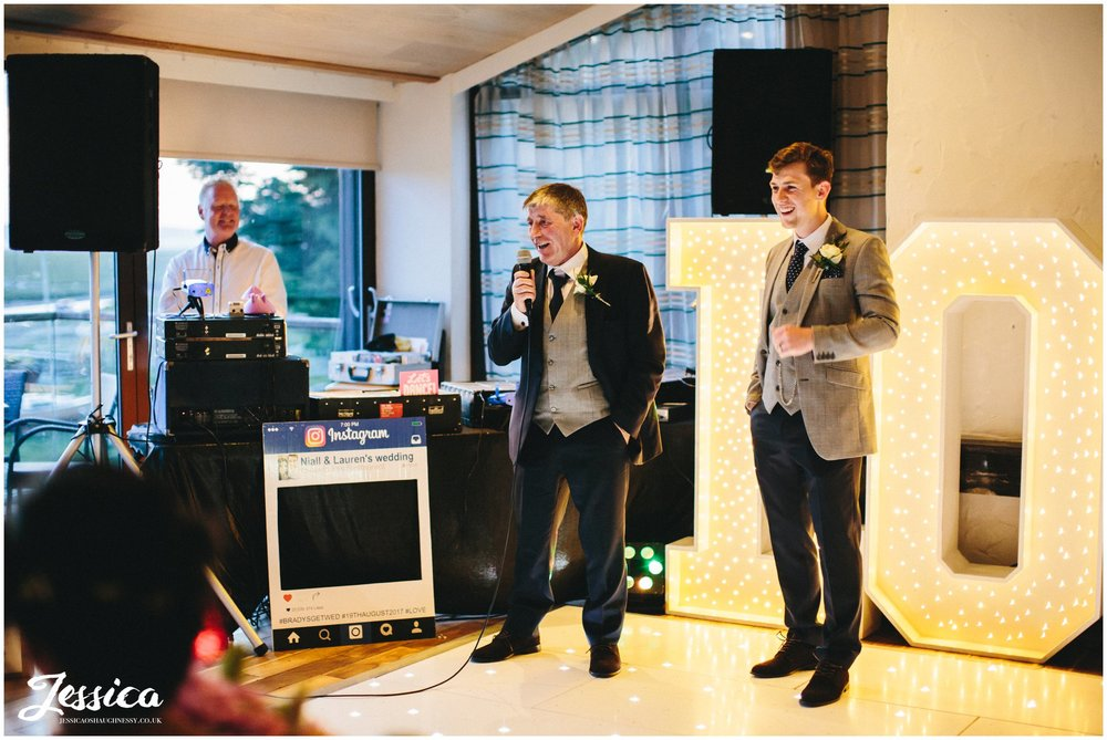 wirral wedding photography - father of the groom's speech
