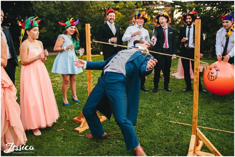 groom plays on the limbo at willington hall