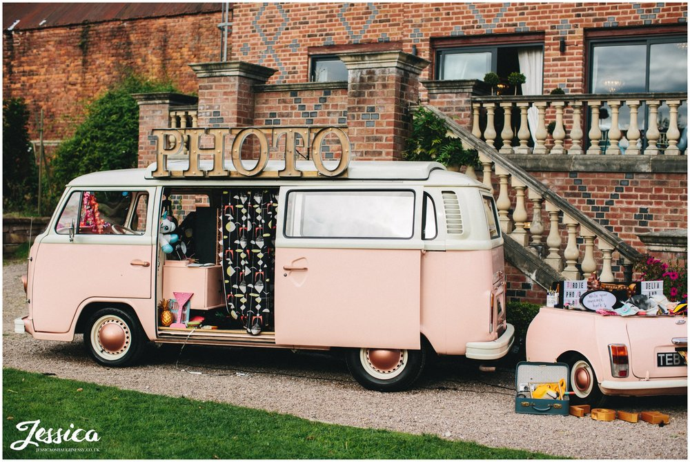 photo booth vw camper at willington hall in cheshire