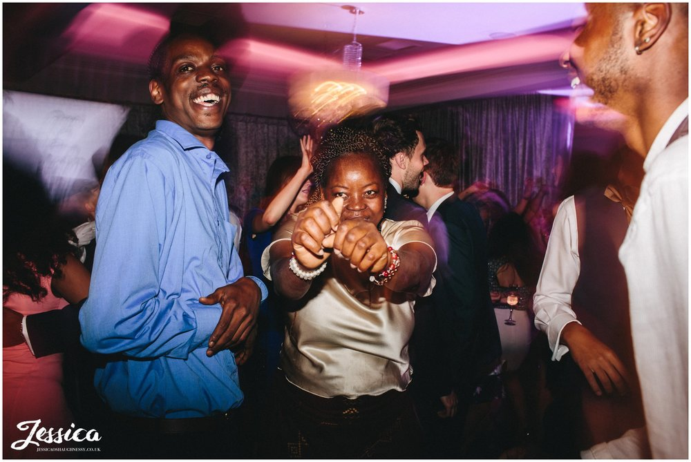 guests dancing at merrydale manor in cheshire