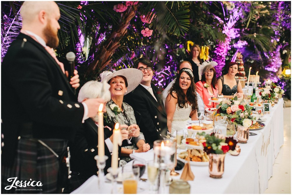 sefton palm house wedding photography - best mans speech