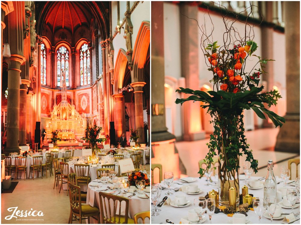 autumnal floral displays decorate gorton monastery in manchester