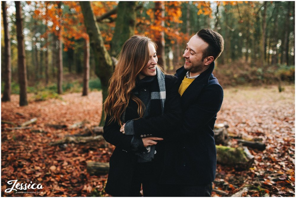 a november engagement shoot in cheshire