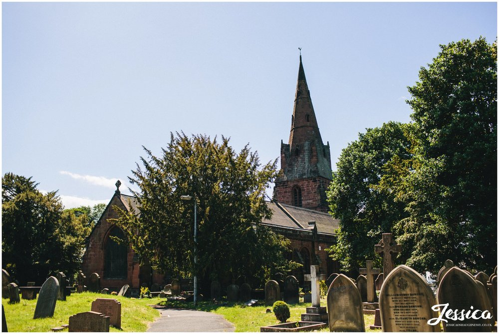 photograph of the church on the wirral