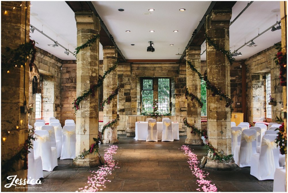 the hospitium in york, dressed for the wedding