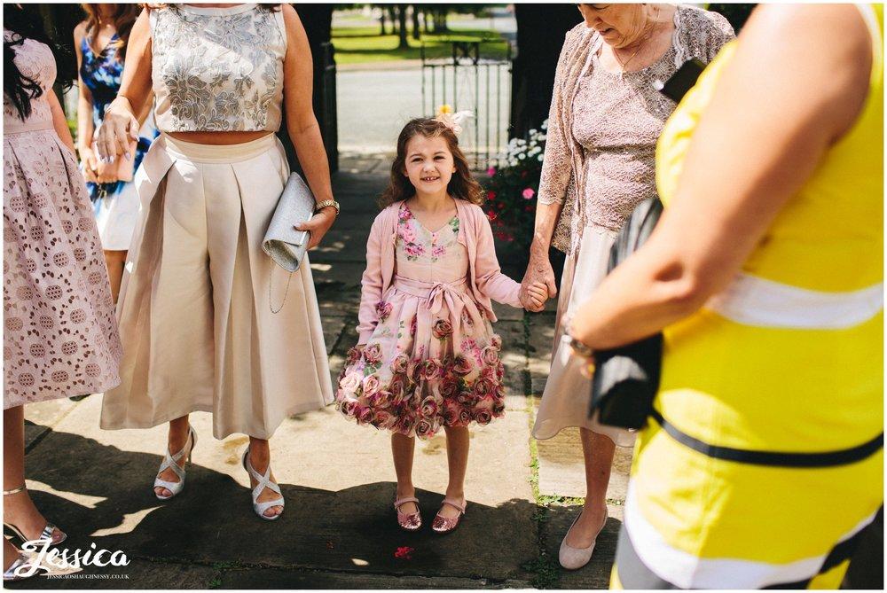 little girl dresses ready for the wedding