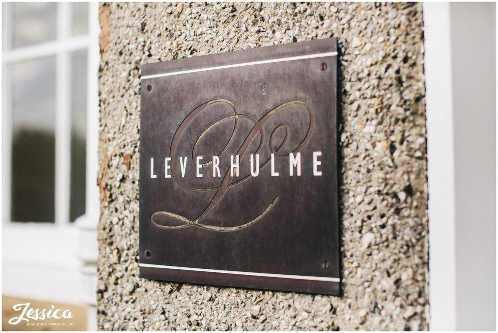 leverhulme hotel sign in port sunlight