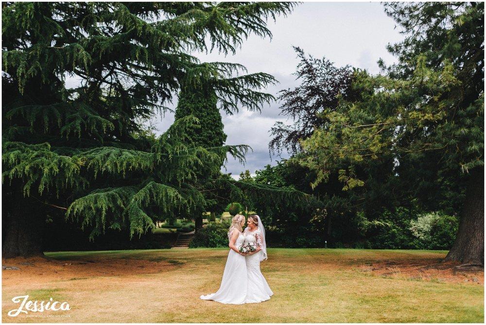 Two Brides Mottram Hall Wedding in Cheshire