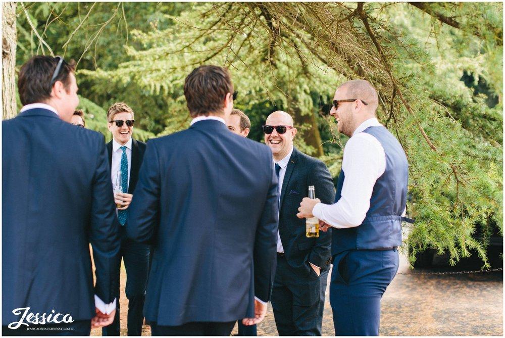 wedding guests enjoy the bartle hall wedding reception