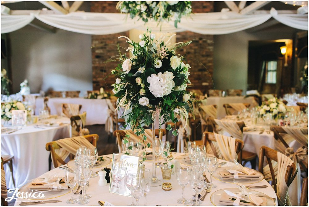 The Balmoral Suite decorated with floral centre pieces
