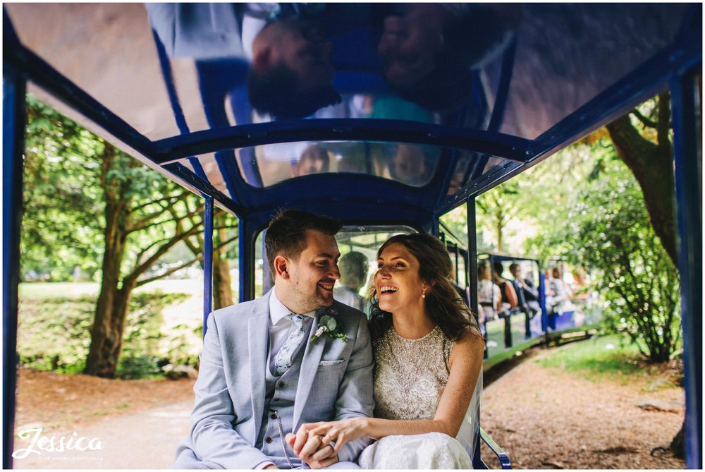 newly wed's ride buxton pavilion gardens train round the gardens