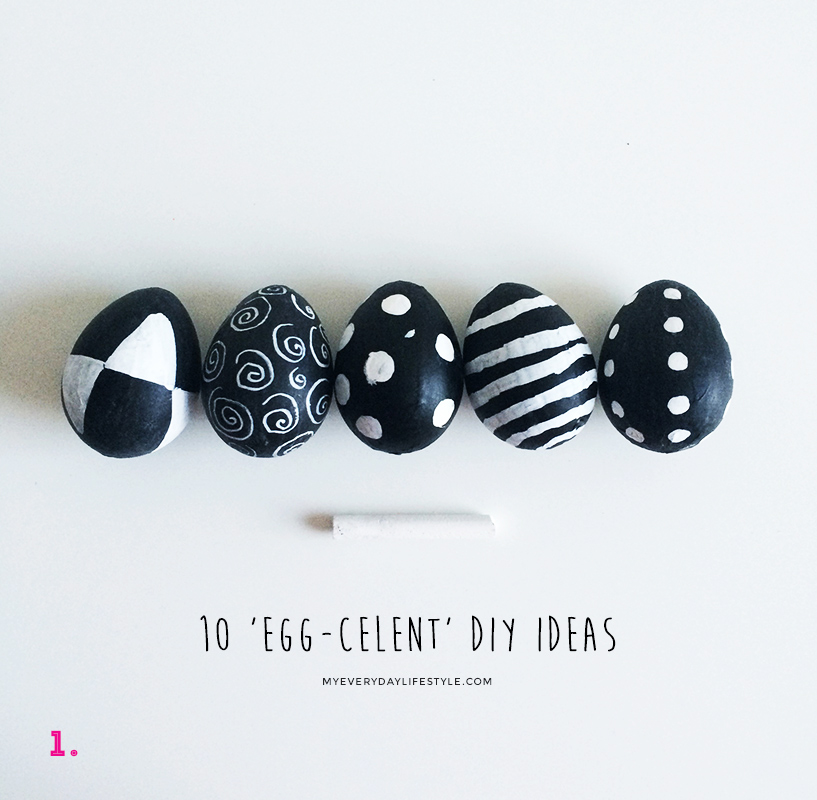 1. These chalkboard eggs are simple & creative.
