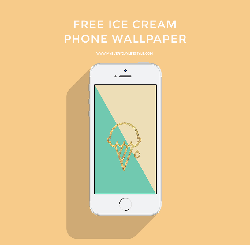 Download free ice cream iPhone only wallpaper   here  . If you want a different size, send me an email and I will resize.