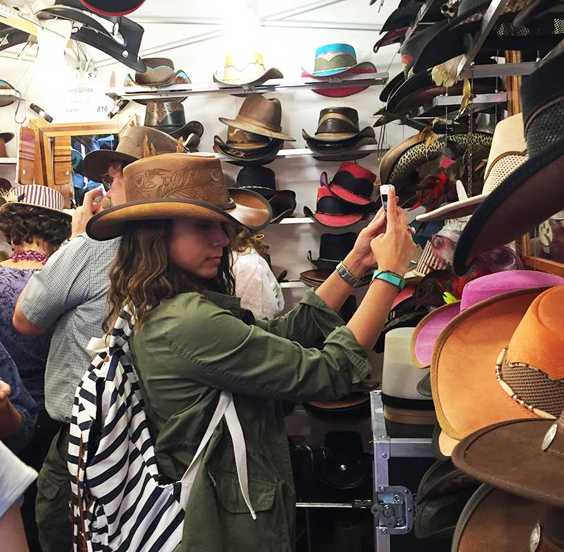 This one booth that housed so many hats drew in a huge crowd. One-of-a-kind hat designs by artist Ronia Grillos.