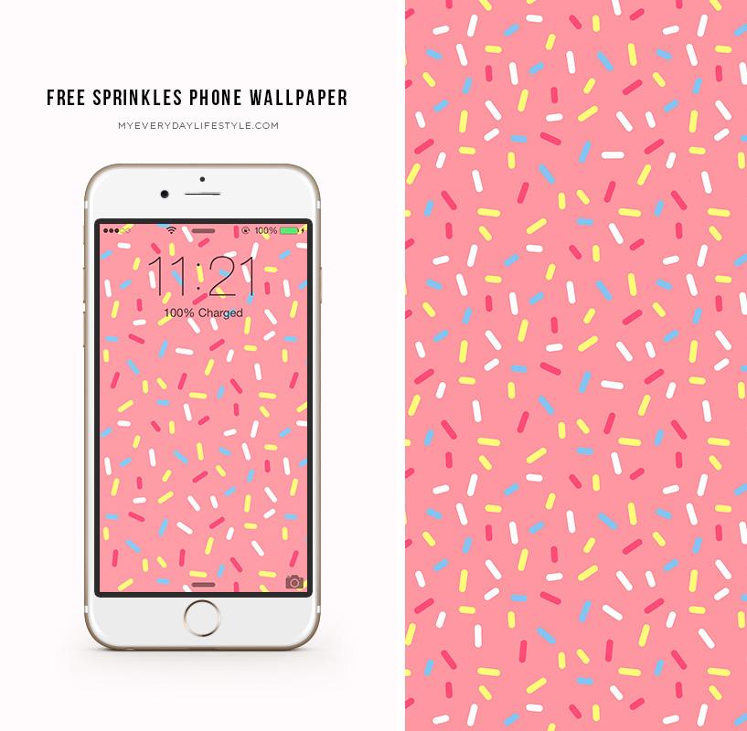 Freebie Friday Sprinkles Phone Wallpaper Mel Dallas Lifestyle Design And Fashion Blogger