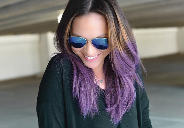 Diy Temporary Violet Hair Color Mel Dallas Lifestyle Design And
