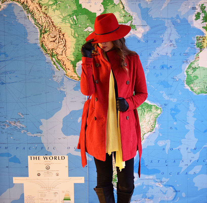 I love dressing in the spirit of Halloween. This year I got to represent one of my favorite childhood shows - Where in the world is Carmen Sandiego. & DIY Carmen Sandiego Costume u2014 MEL | Dallas Lifestyle Design and ...