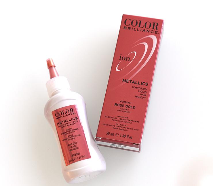 Rose Gold Ion Color Brilliance Metallics Temporary Liquid Hair