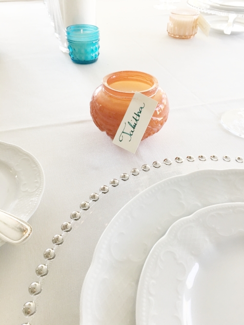 Rentals:  Music City Tents  - Antique White Bengaline Linen, Crystal Beaded Charger ,Vienna China, York Silver Plated Flatware, Carat Crystal Stemware.  Guest Favors:  Paddywax  - Relish Jar Candles