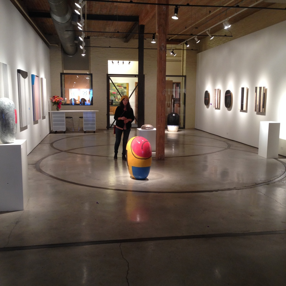 We didn't take many photos from the exhibitions that we visited, but here's a shot from Sherry Leedy's Kaneko exhibition.
