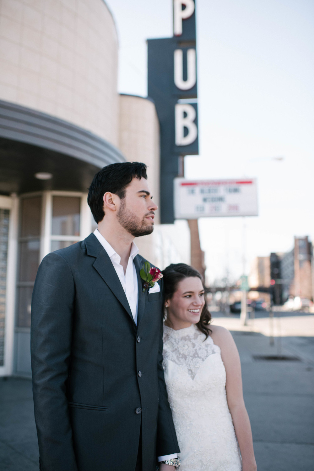 Urban Industrial Wedding at Local Concert Venue
