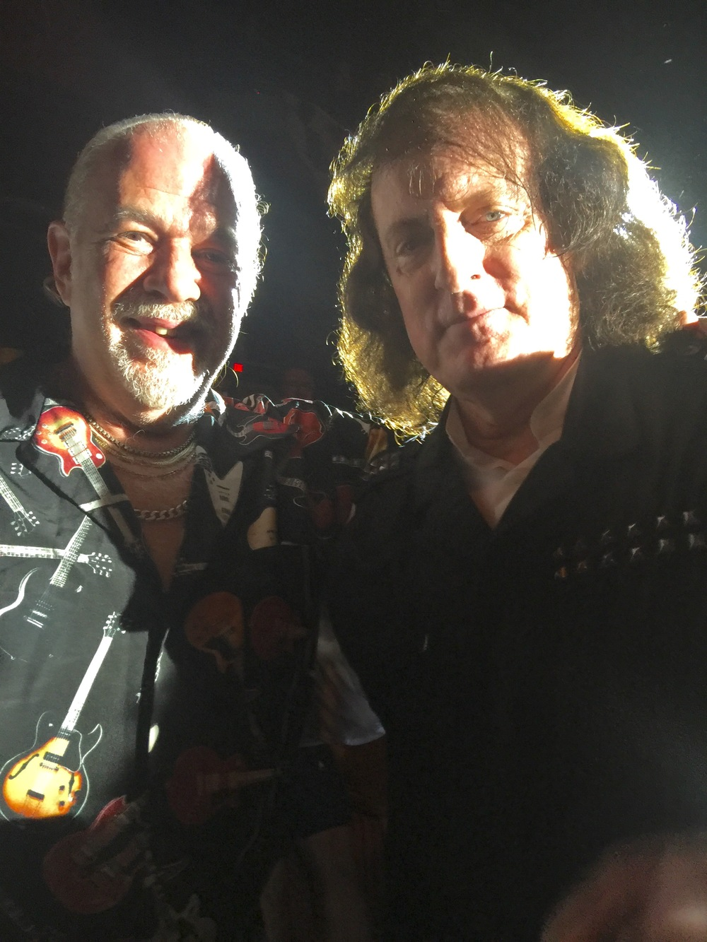 The owner of EZ2collect, Irv Lukin, meets legendary musician Tommy James during his concert at the Great Auditorium in Ocean Grove, NJ