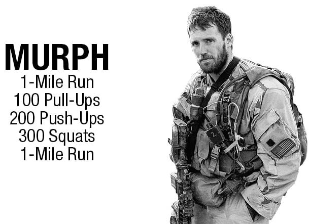 A brutal WOD we look forward to once each year; this year Murph will be on Monday, May 28 💪  Please arrive to class early if possible to get through your warm ups as we'll be getting the WOD started ASAP in each class
