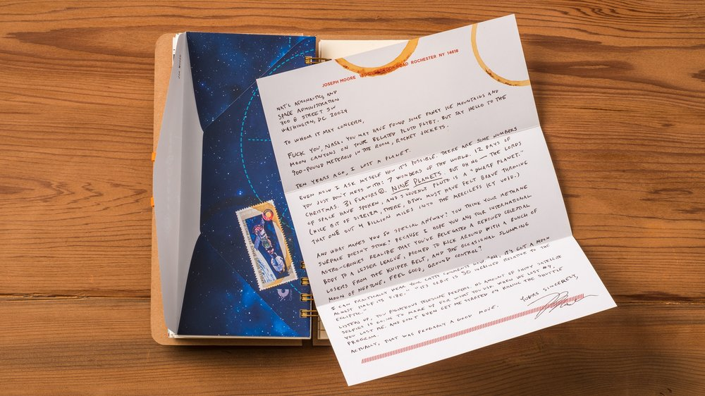 How Joe's letter appeared in the Fuel 2016 book/calendar. His text is below.