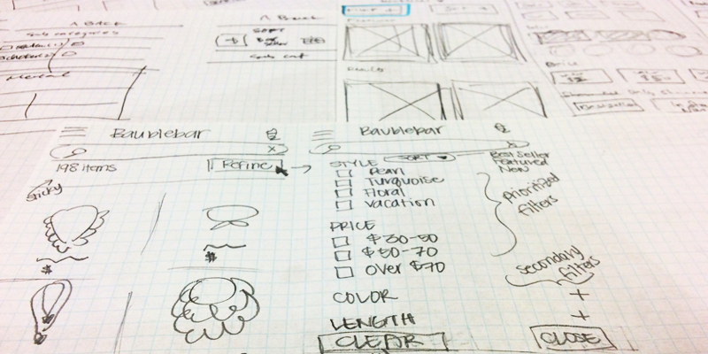 sketches from design studio session