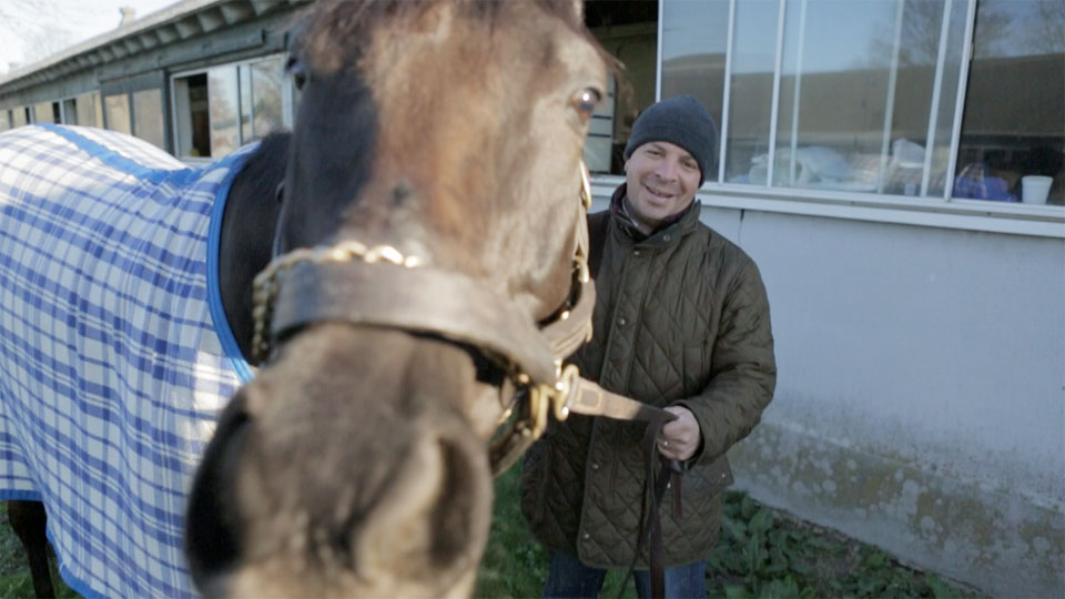Trainer Carlos Martin and PromiseMeACat