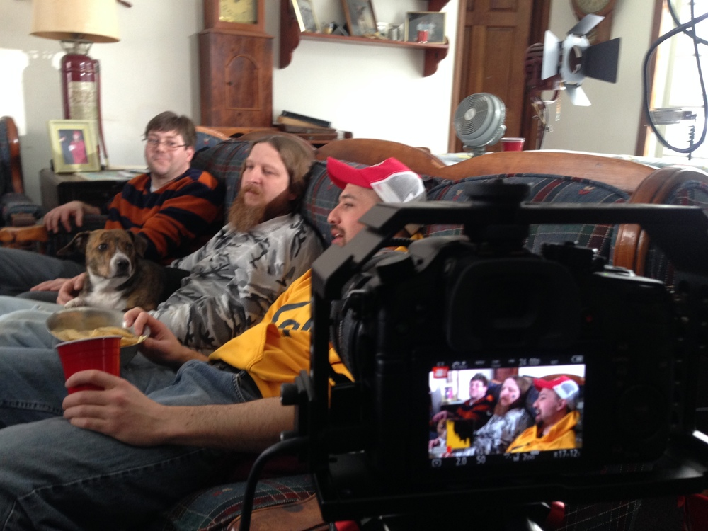 "A BTS shot from ""Happy Dog"" - our second collaborative film."