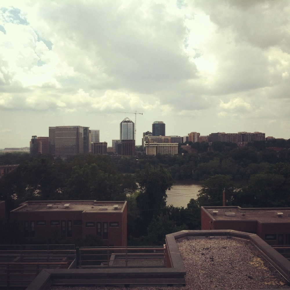 View from atop the campus apartments