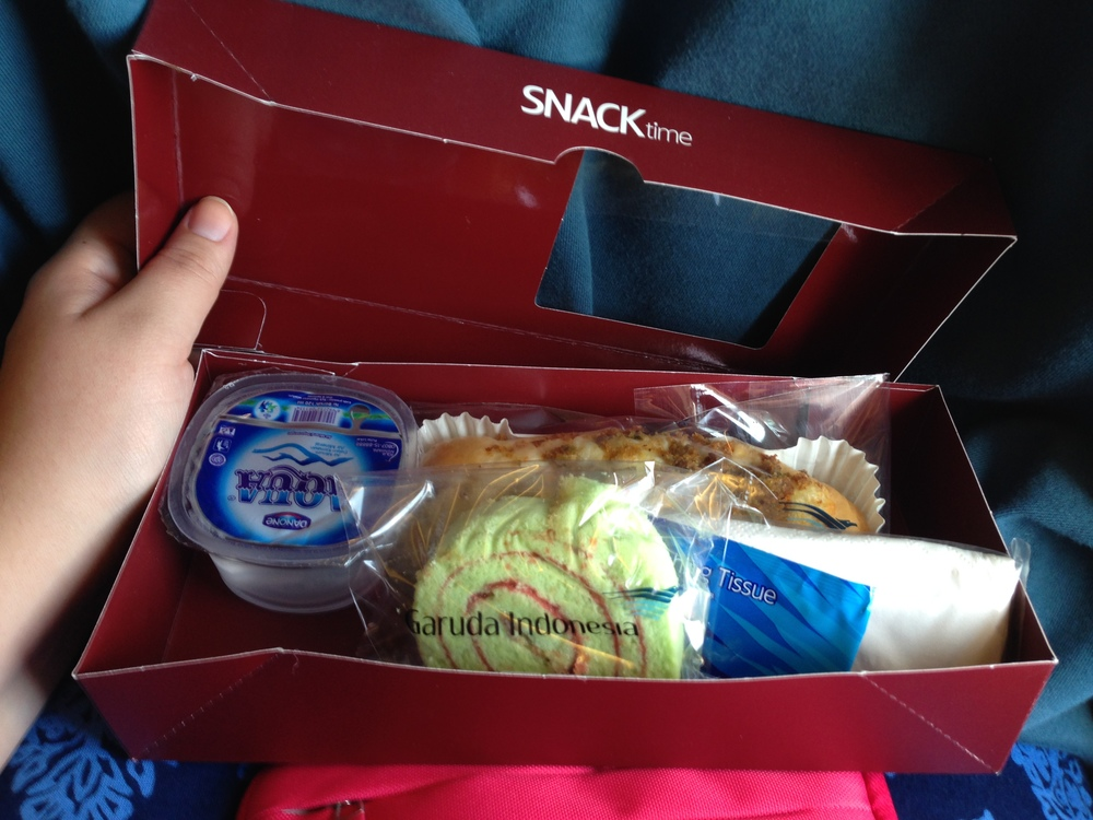 A snack box for a 30 minute flight!