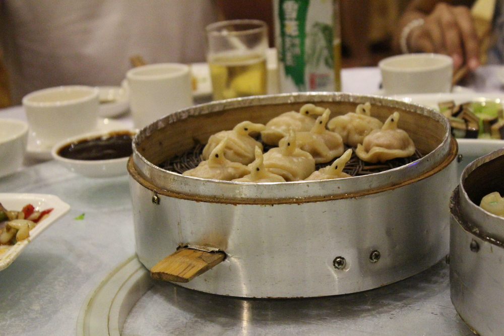 Duck dumplings. I love myself a dumpling.