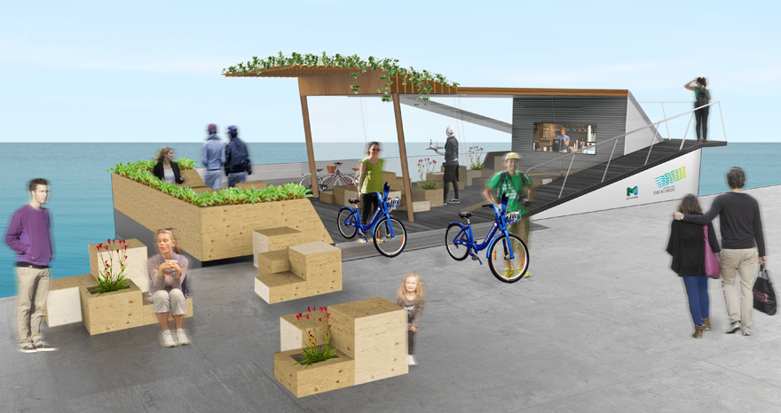PLACES VIC  |  DOCKLANDS LAND FERRY CONCEPT Outdoor Space Design, Interior architecture design, Industrial design development, Design Strategy