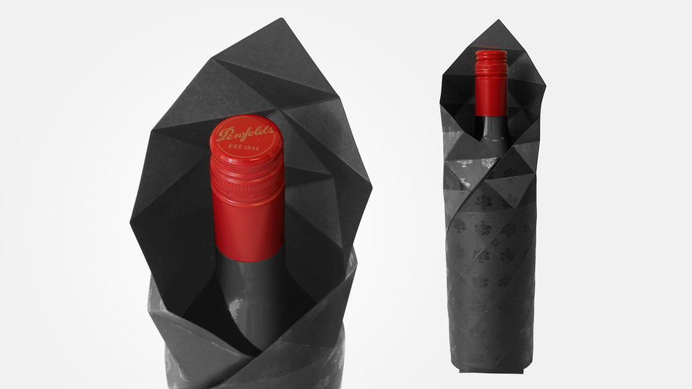 TREASURY WINE ESTATES  |  PENFOLDS FACETED GIFT WRAP Packaging design, Innovation research www.penfolds.com