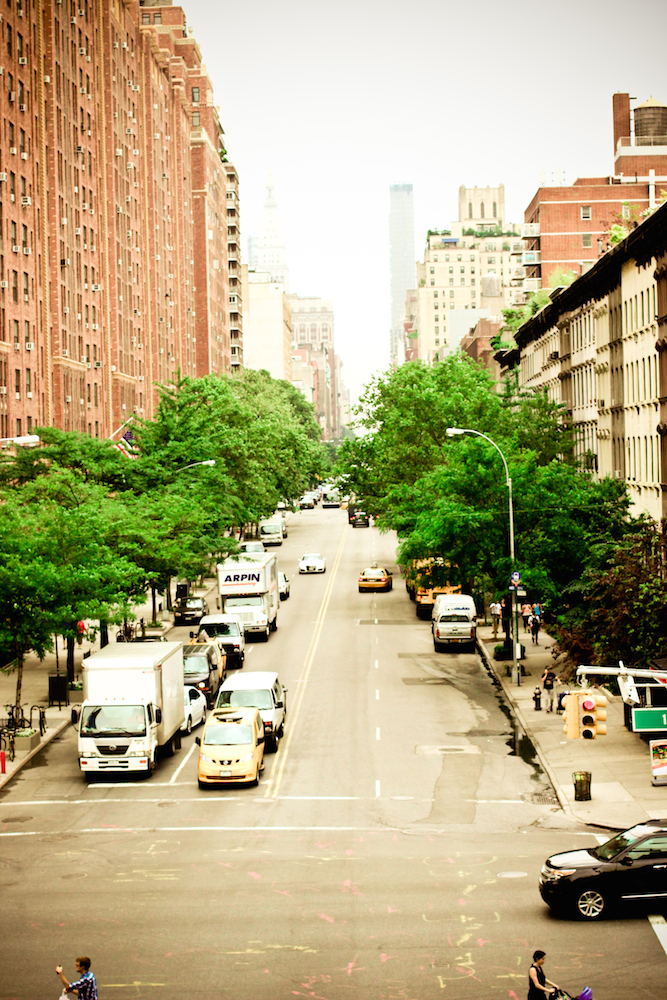 View of NYC street from The Highline