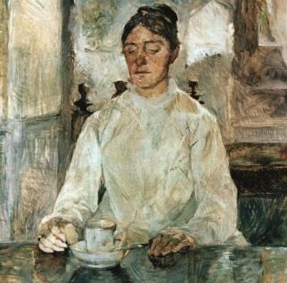La Comtesse Adèle de Toulouse Lautrec -La mère de l'artiste. Henri de Toulouse-Lautrec, 1883.