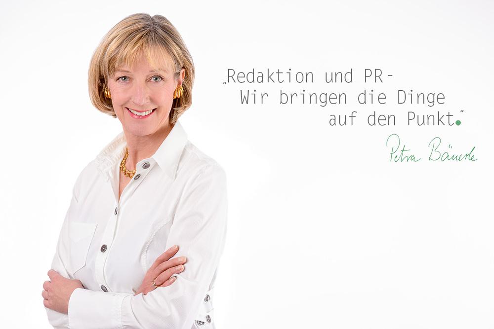 Die Frau hinter peb media & consult:Petra Bäuerle,Journalistin und PR-Beraterin