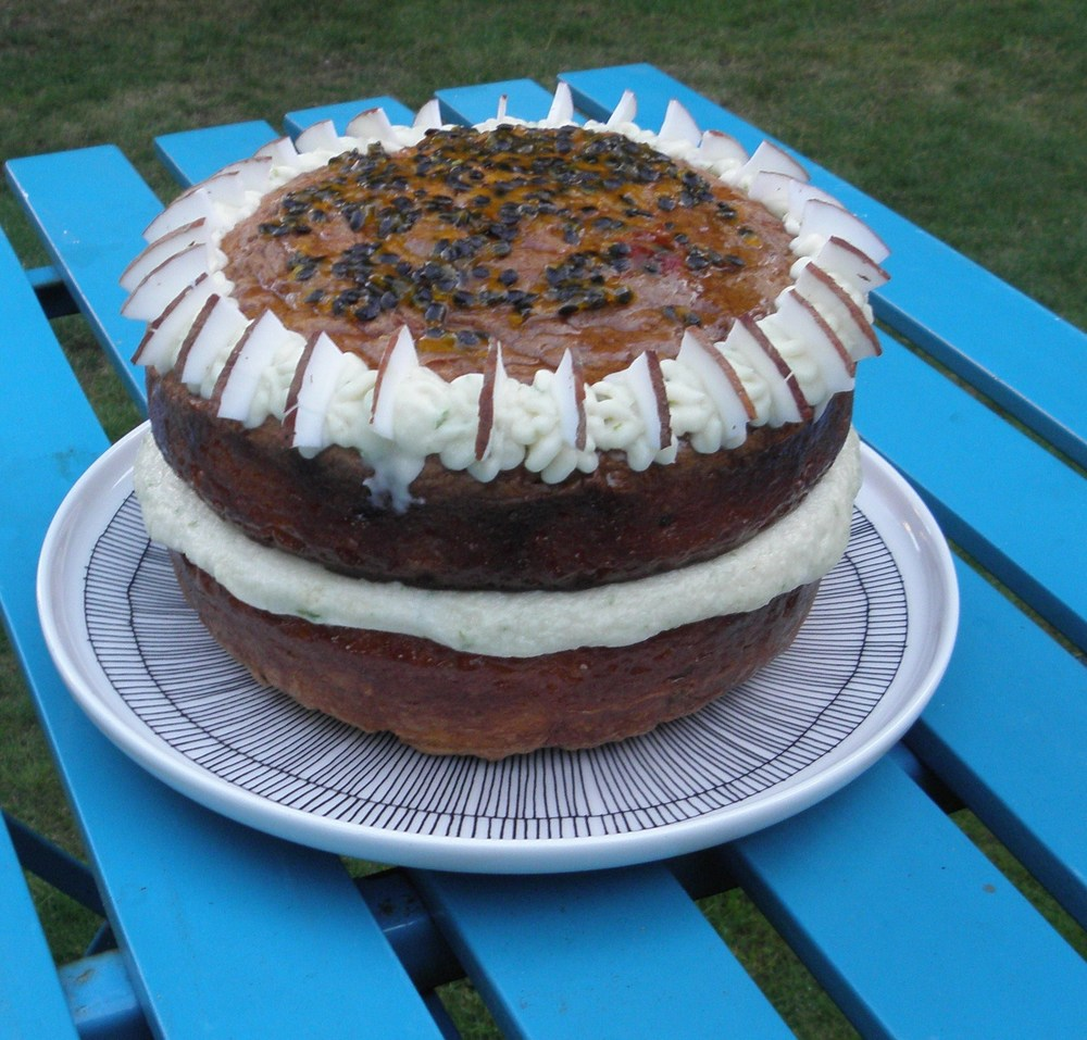 Passionfruit and coconut cake recipe