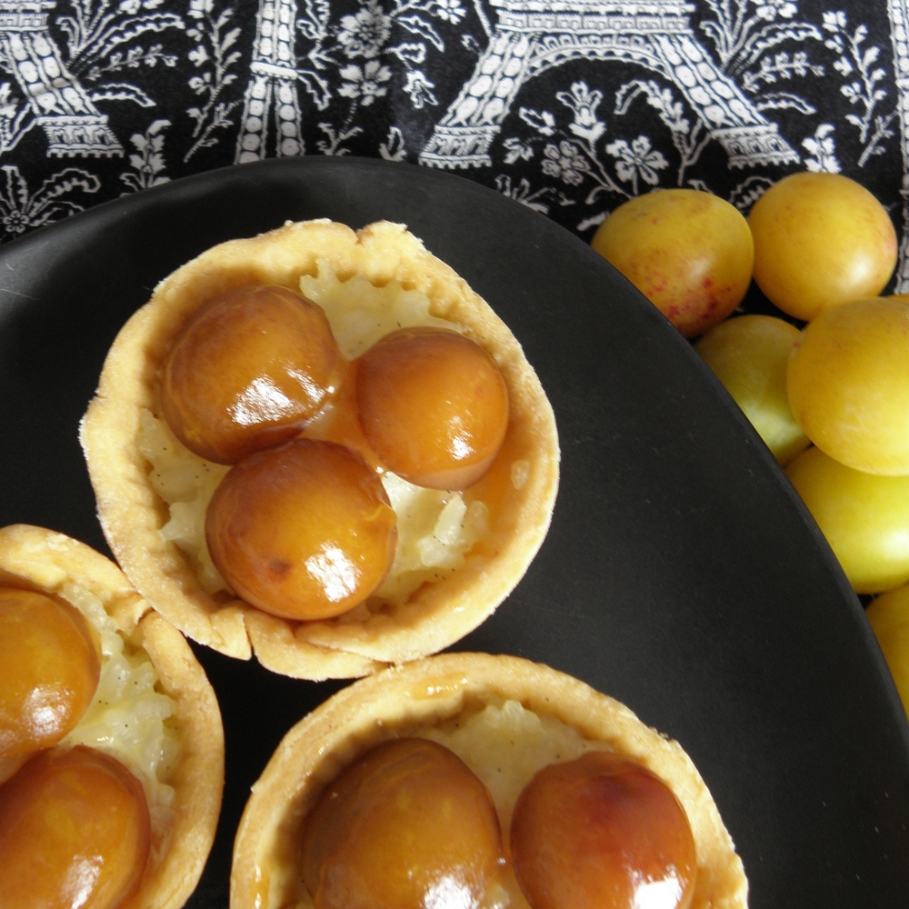 Jammy rice pudding tartlets