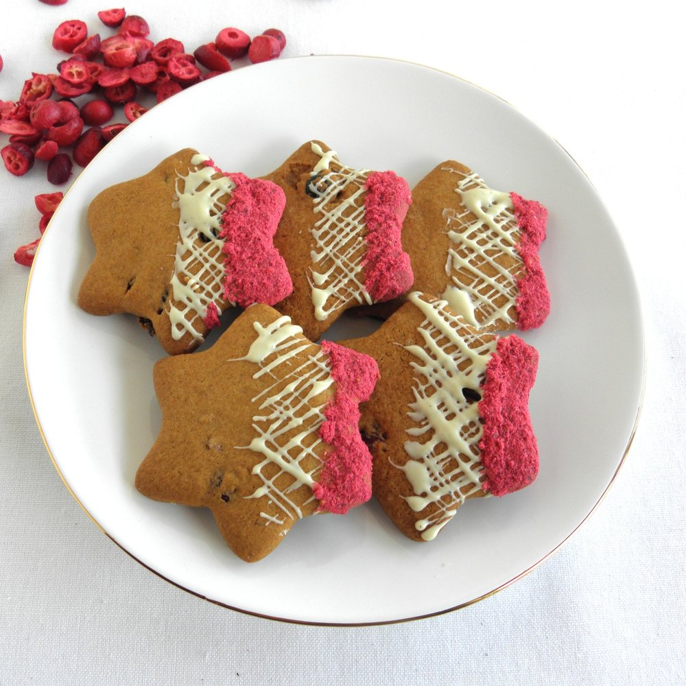Cranberry and white chocolate stars